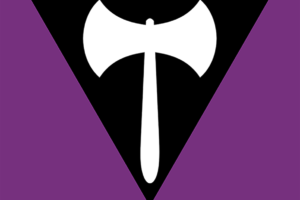 bandera labrys para lesbianas
