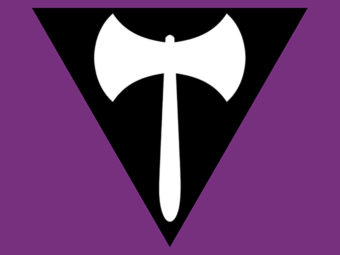 Bandera Lesbica LABRYS – Rotunda Warning